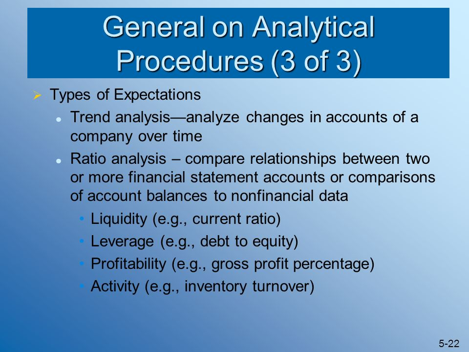 General on Analytical Procedures (3 of 3)