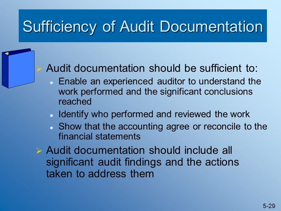 Sufficiency of Audit Documentation