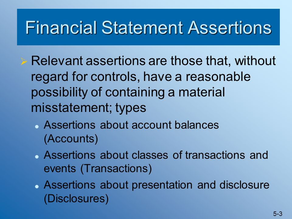 Financial Statement Assertions