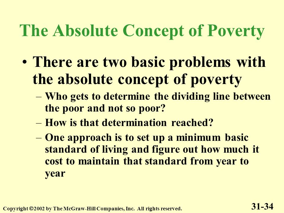 The Absolute Concept of Poverty