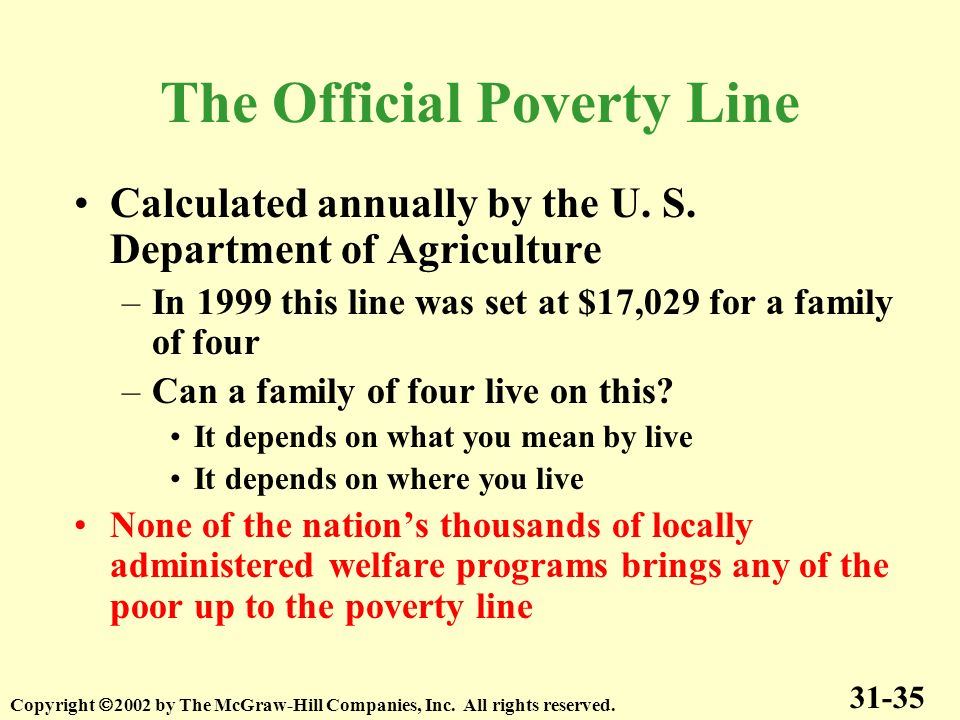current poverty lines The poverty rate is the ratio of the number of people whose income falls below the poverty line.
