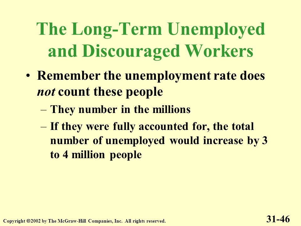 The Long-Term Unemployed and Discouraged Workers