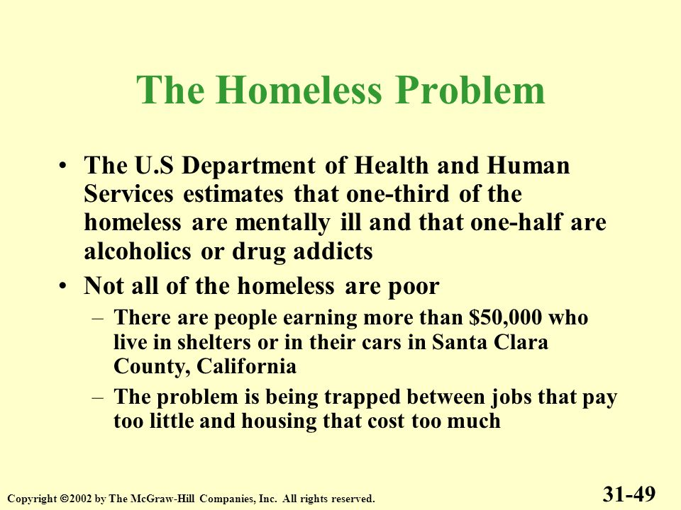 The Homeless Problem