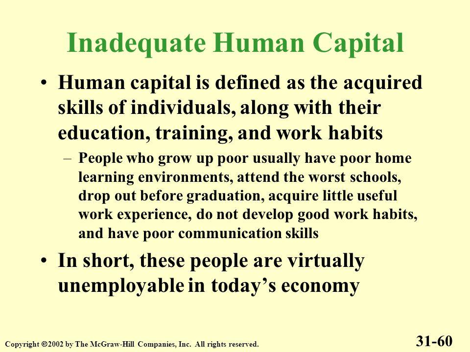 Inadequate Human Capital