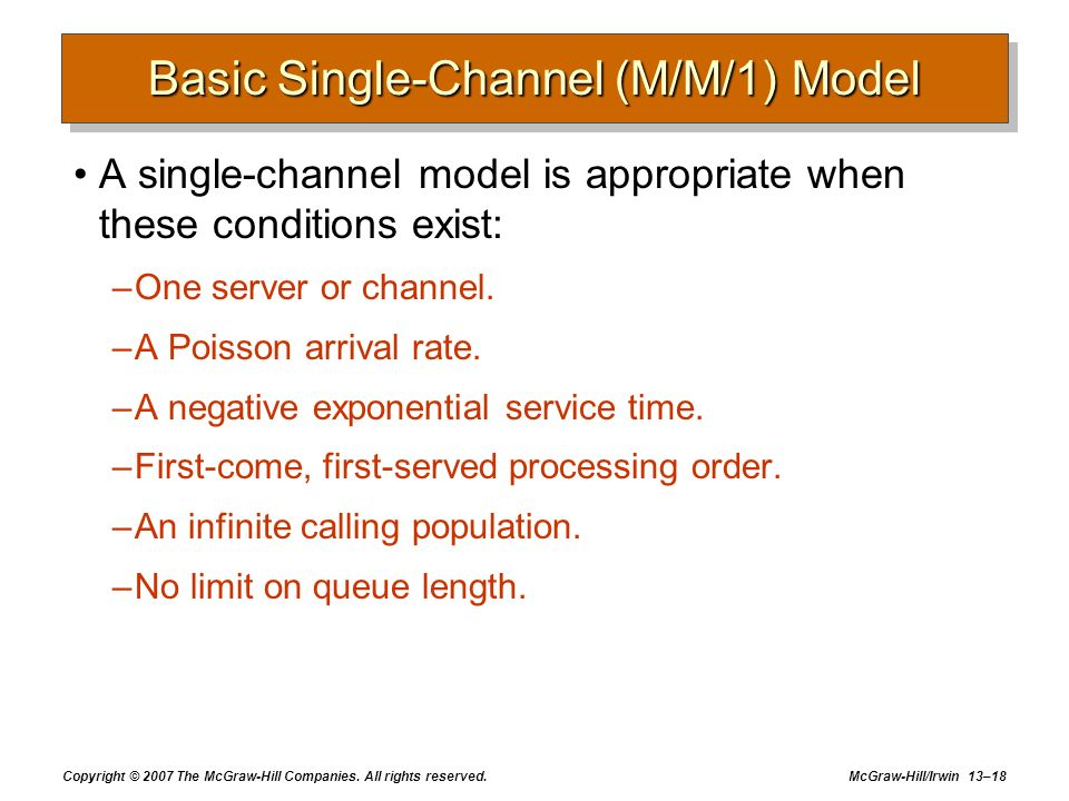 Basic Single-Channel (M/M/1) Model