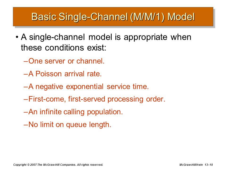 Basic Single-Channel (M/M/1) Model
