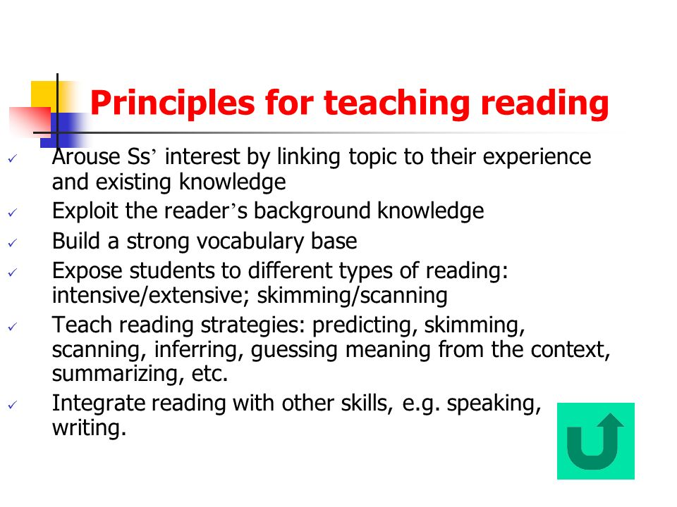 Knowledge and Skills for Teaching Reading