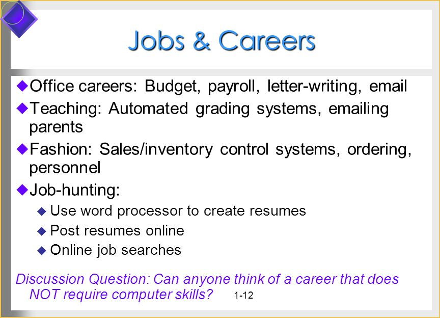 Jobs & Careers Office careers: Budget, payroll, letter-writing, email
