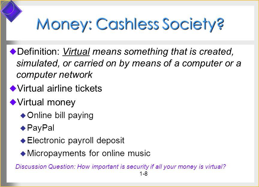 Money: Cashless Society