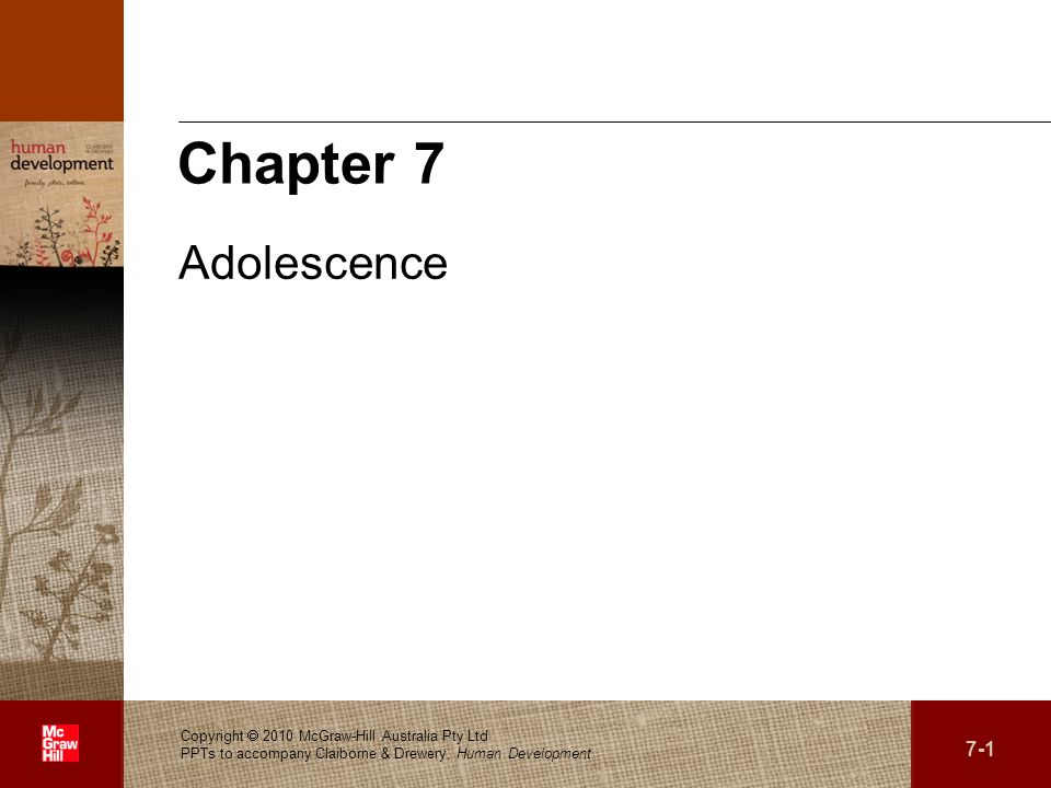 Chapter 7 Adolescence.