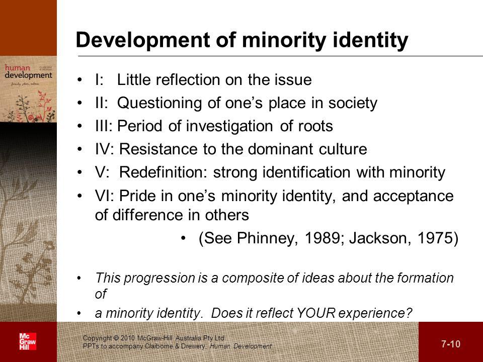 Development of minority identity