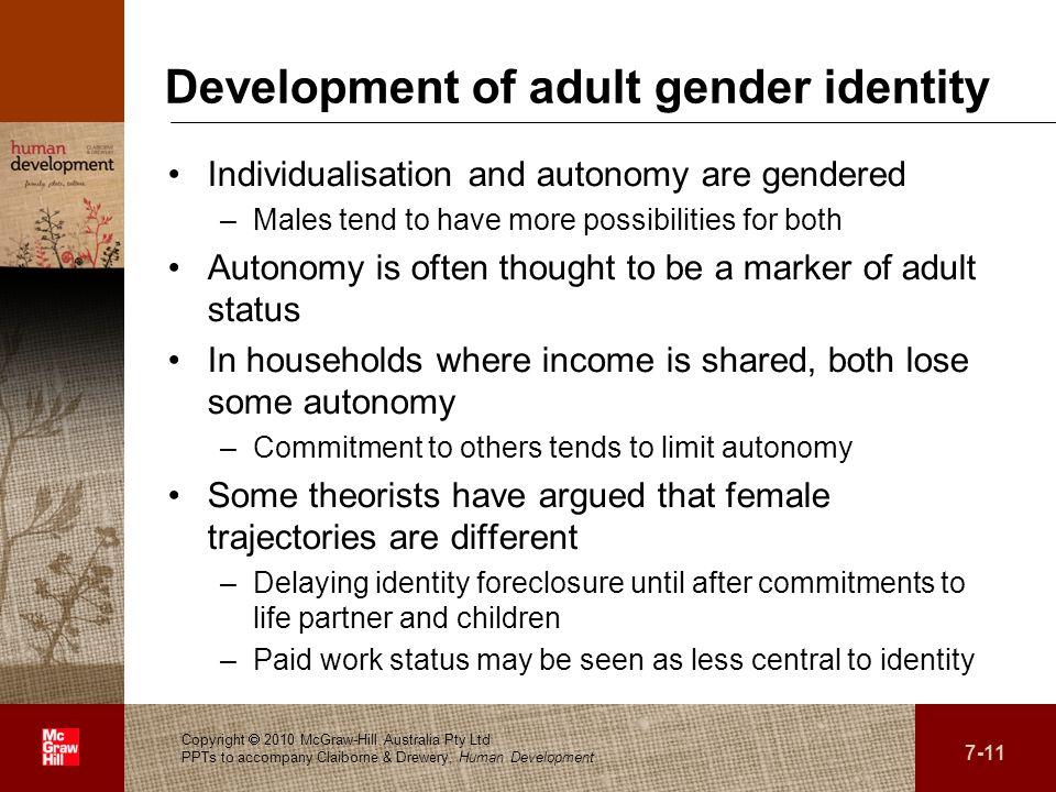 Development of adult gender identity