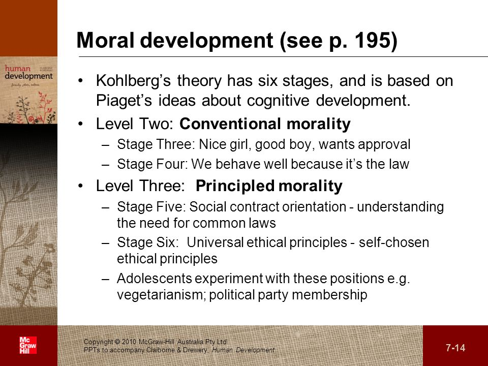 Moral development (see p. 195)