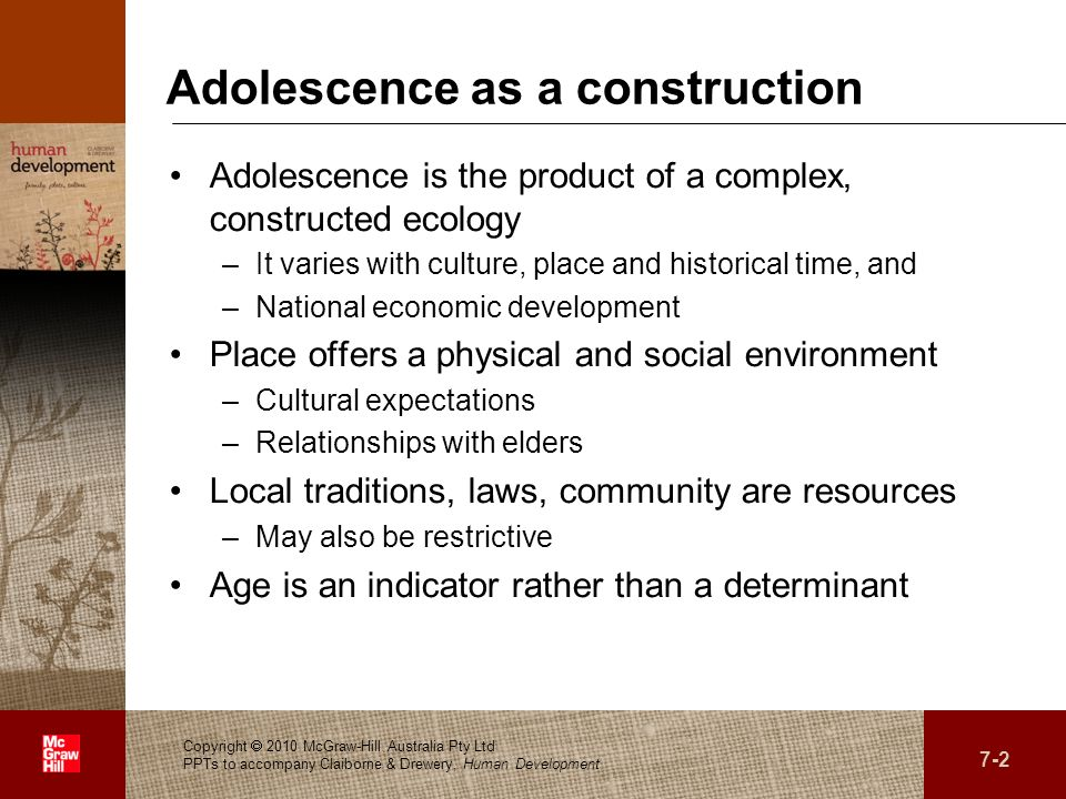 Adolescence as a construction