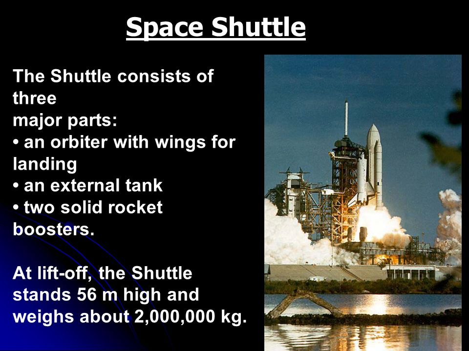 Space Shuttle The Shuttle consists of three major parts: