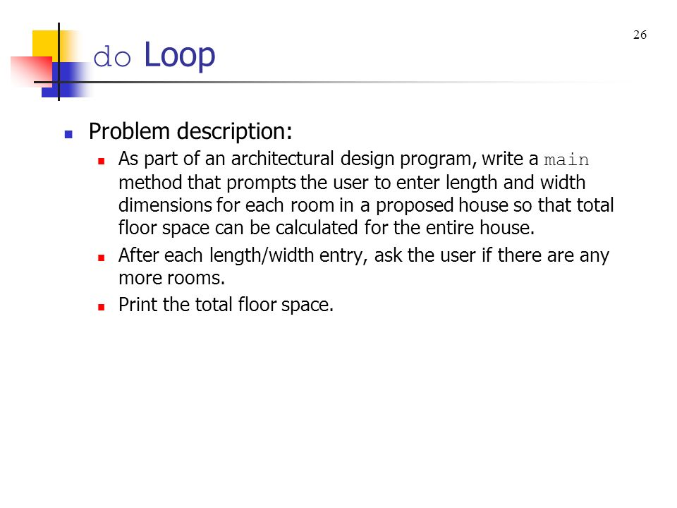 do Loop Problem description: