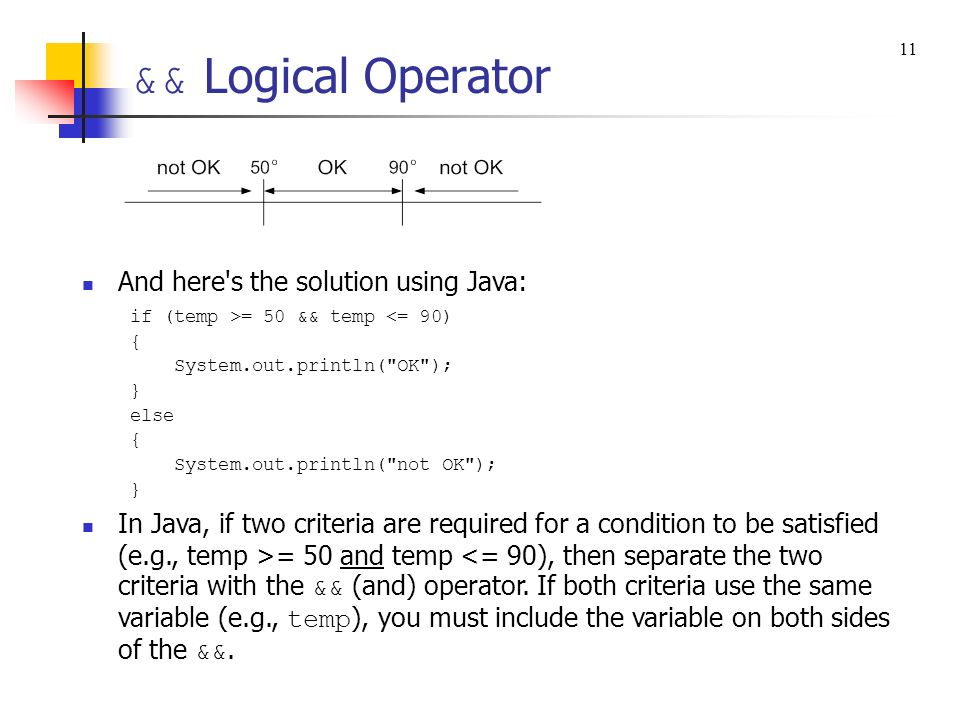 && Logical Operator And here s the solution using Java: