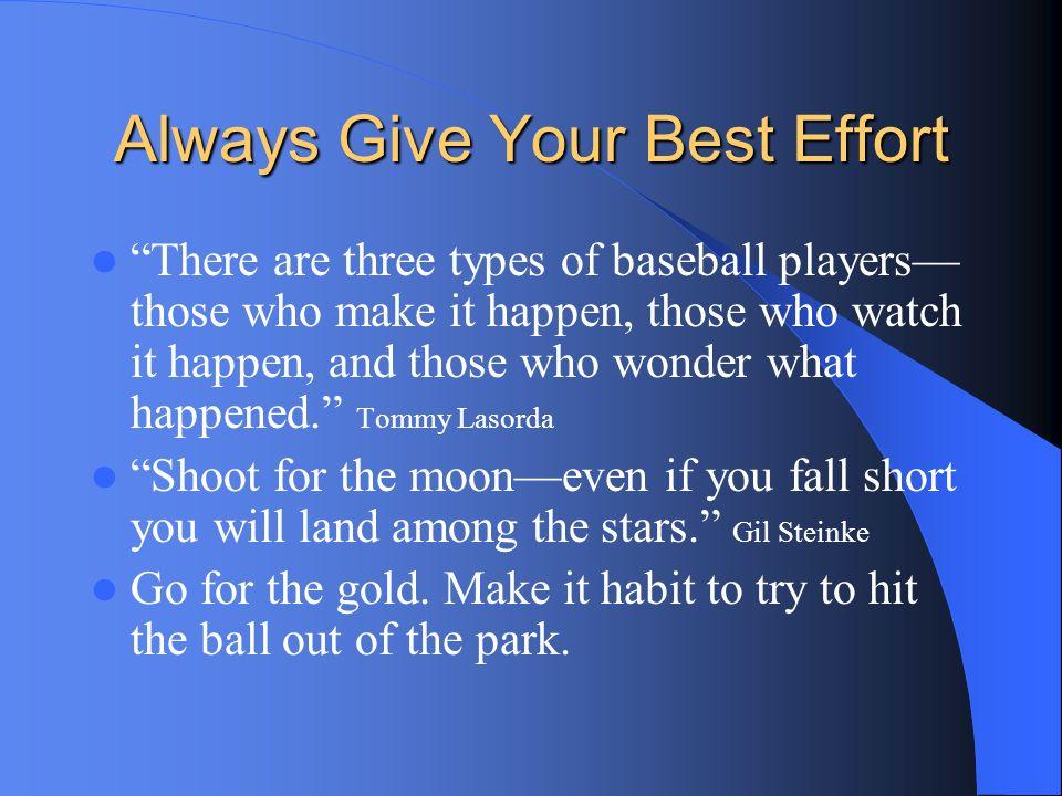 Always Give Your Best Effort