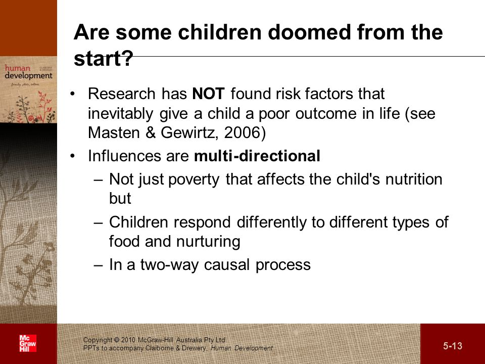 Are some children doomed from the start