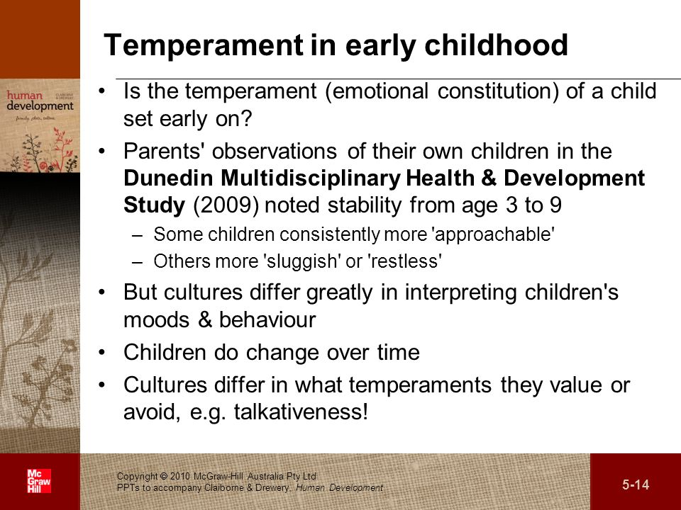 Temperament in early childhood