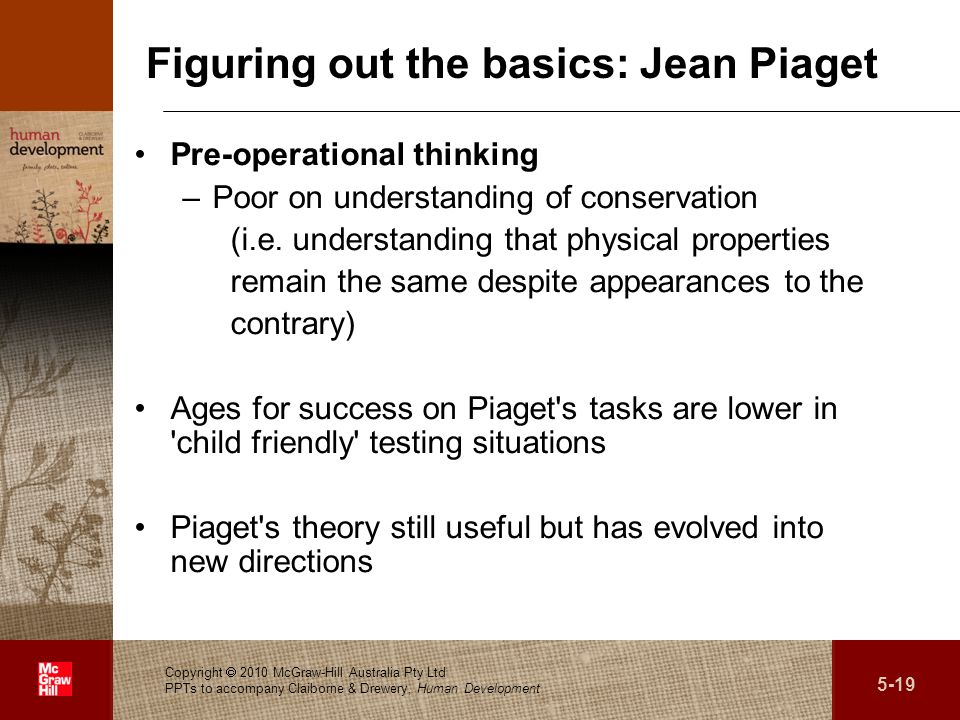 Figuring out the basics: Jean Piaget