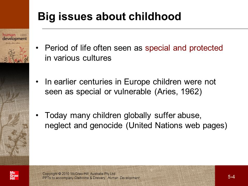 Big issues about childhood
