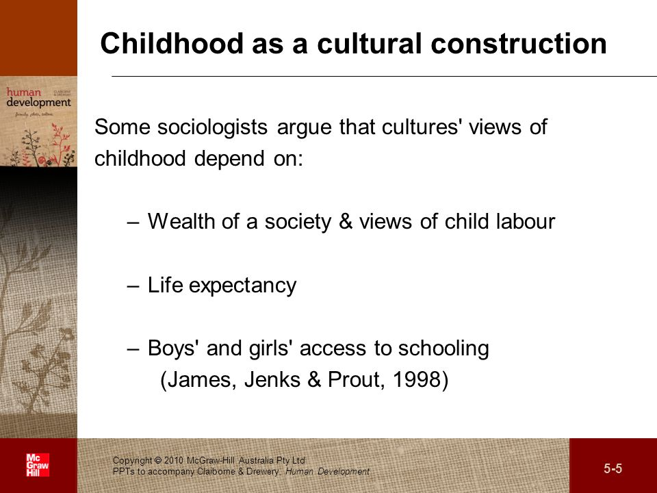 Childhood as a cultural construction