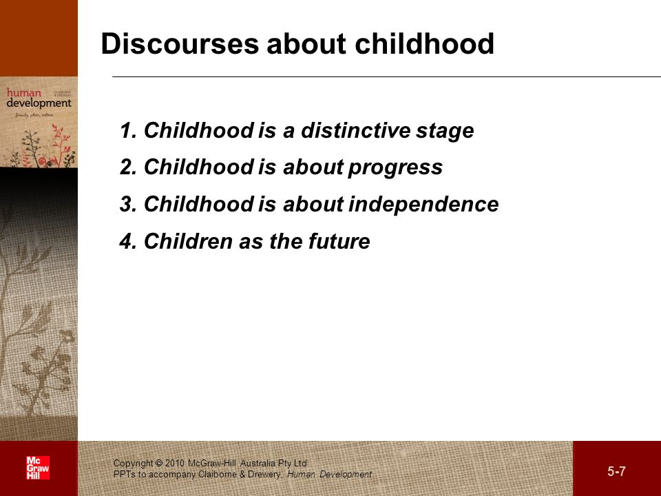 Discourses about childhood