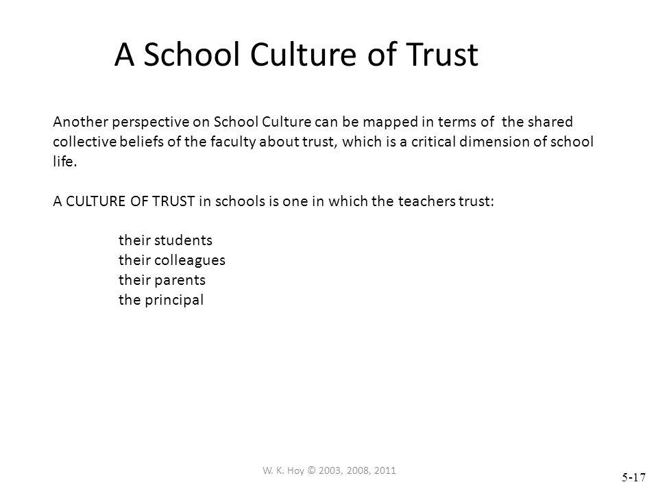 A School Culture of Trust