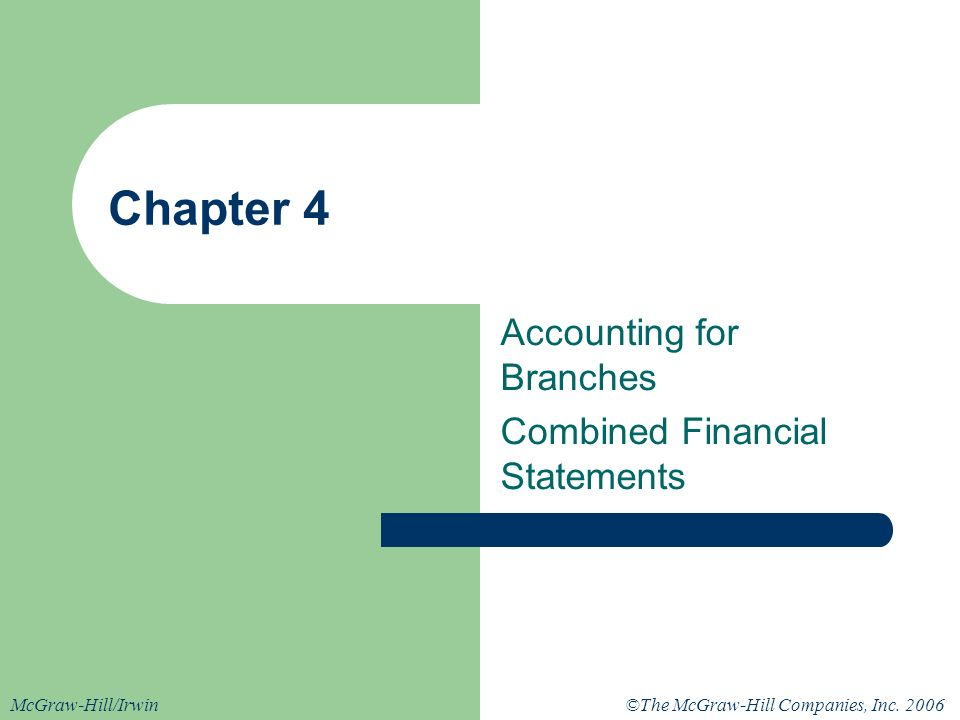 Accounting for Branches Combined Financial Statements