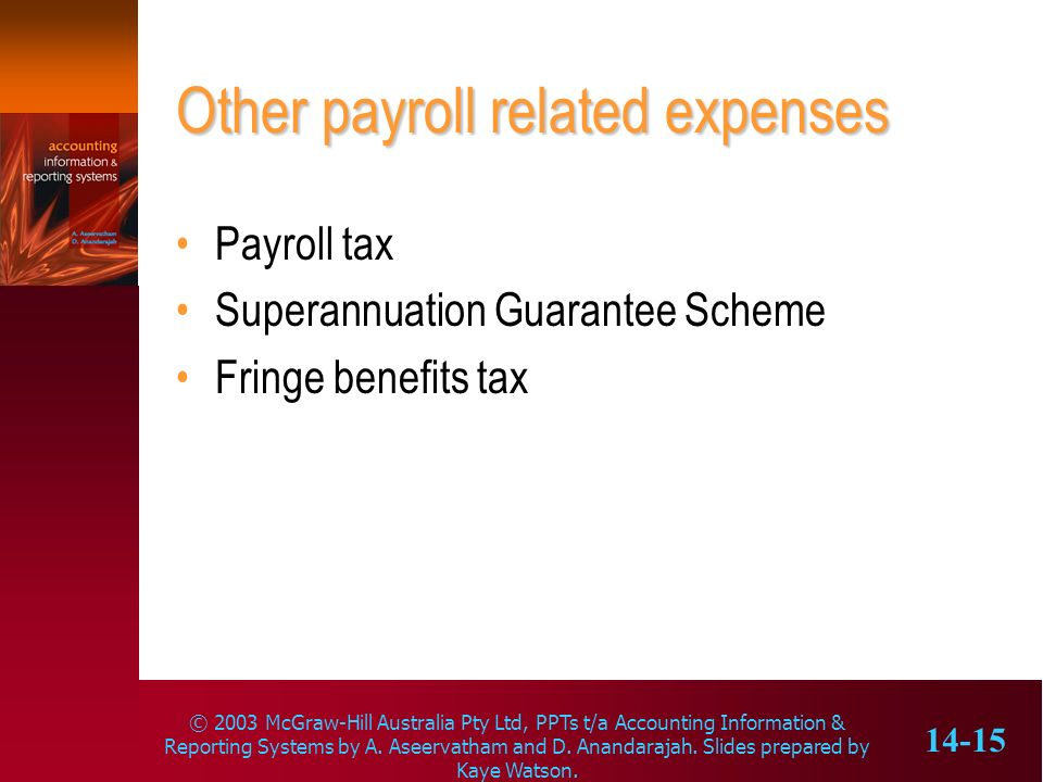Other payroll related expenses