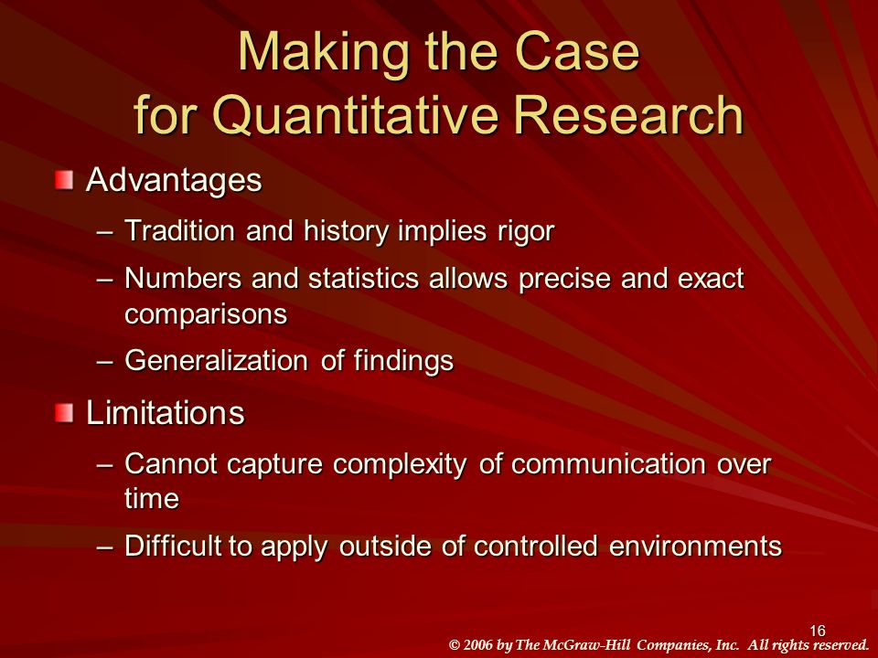 Making the Case for Quantitative Research