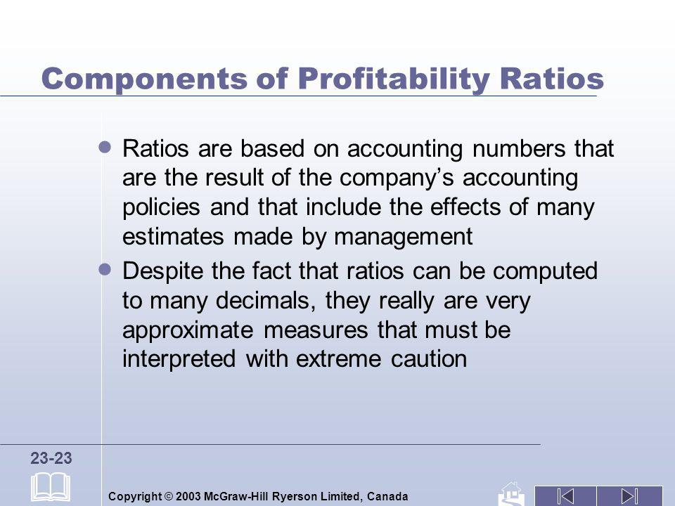 Components of Profitability Ratios