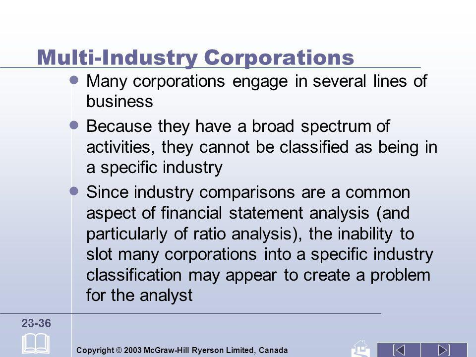 Multi-Industry Corporations