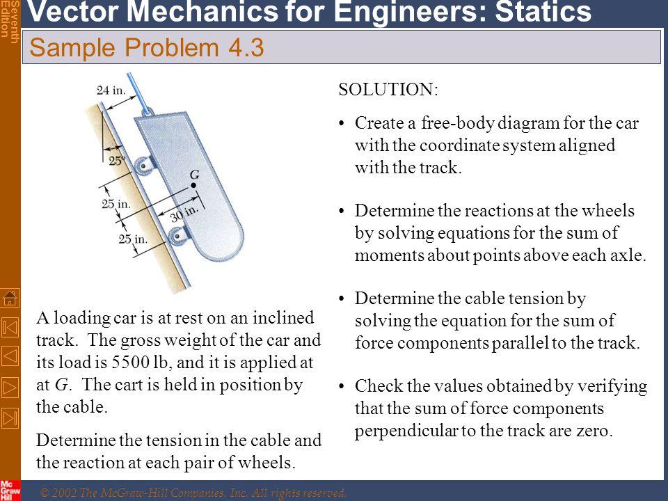 Sample Problem 4.3 SOLUTION: