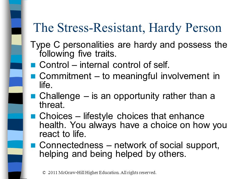 The Stress-Resistant, Hardy Person