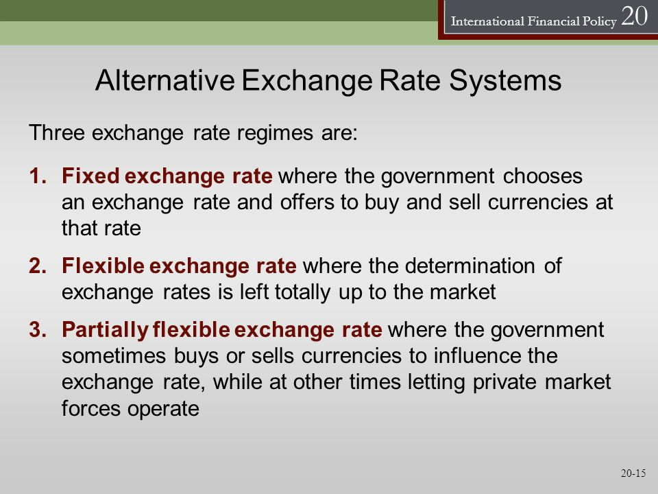Alternative Exchange Rate Systems
