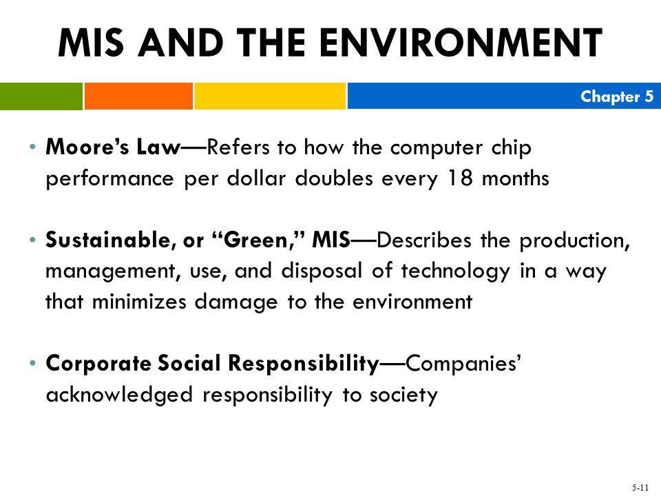 MIS AND THE ENVIRONMENT