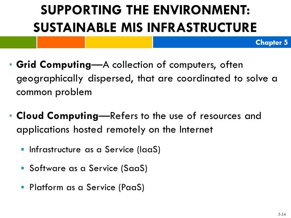 SUPPORTING THE ENVIRONMENT: SUSTAINABLE MIS INFRASTRUCTURE