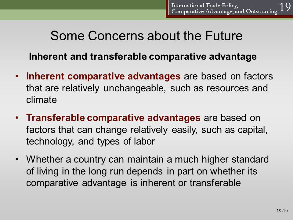 Some Concerns about the Future