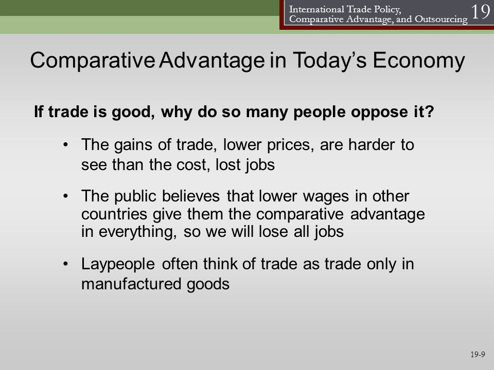 Comparative Advantage in Today's Economy