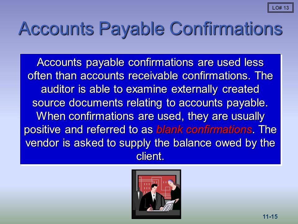 Accounts Payable Confirmations