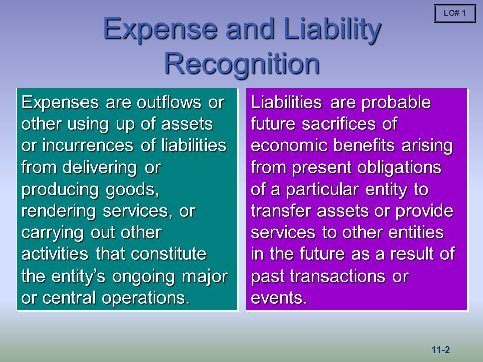 Expense and Liability Recognition