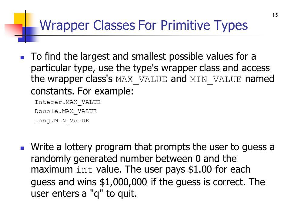 wrapper class in java pdf