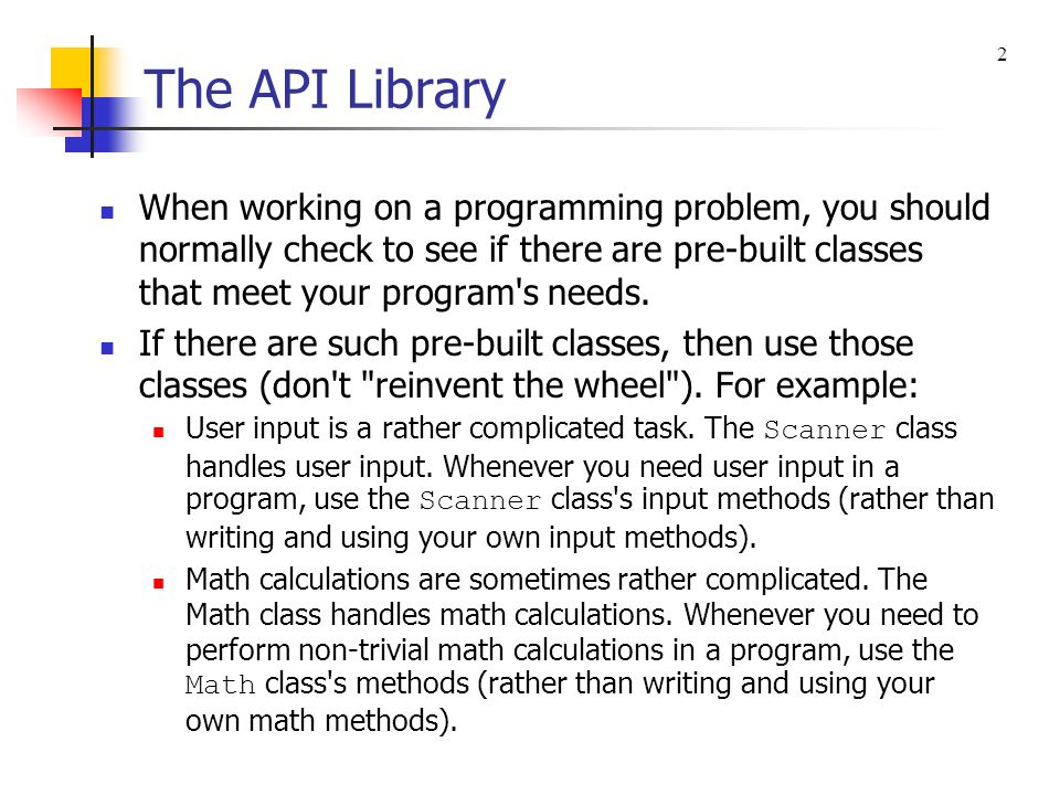 The API Library 2.