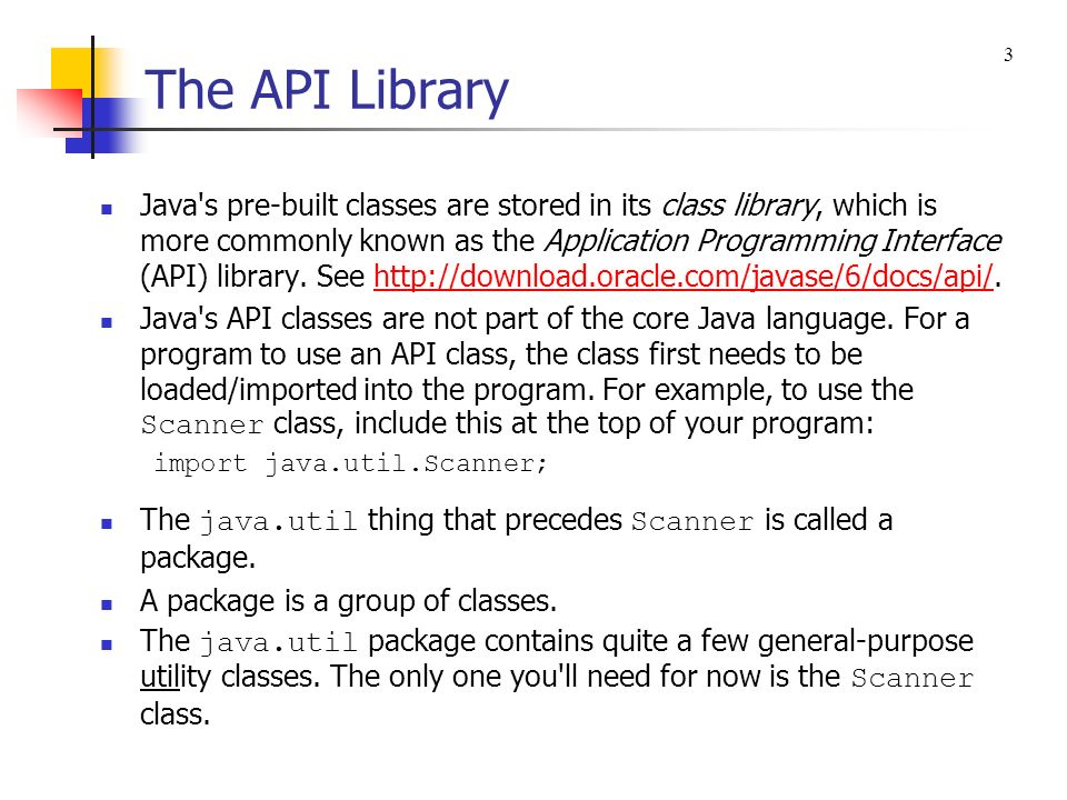 The API Library 3.