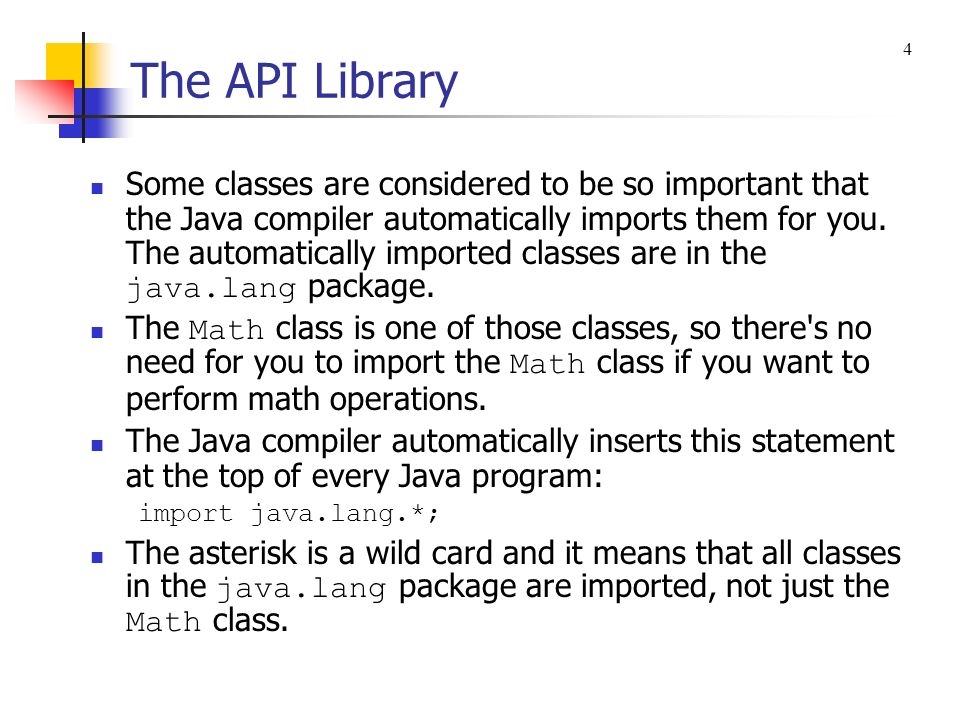 The API Library 4.