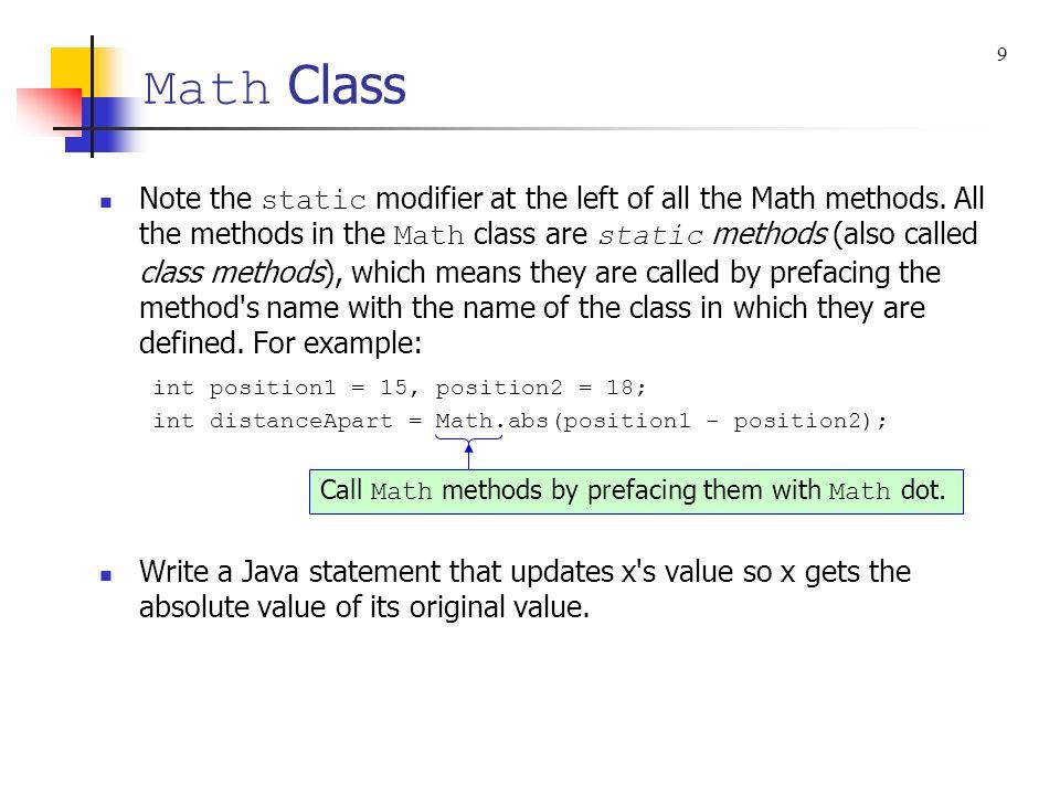 Math Class 9.