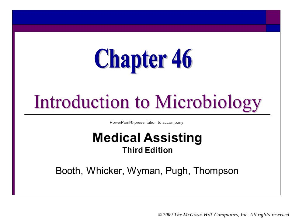 Chapter 46 Introduction to Microbiology Medical Assisting