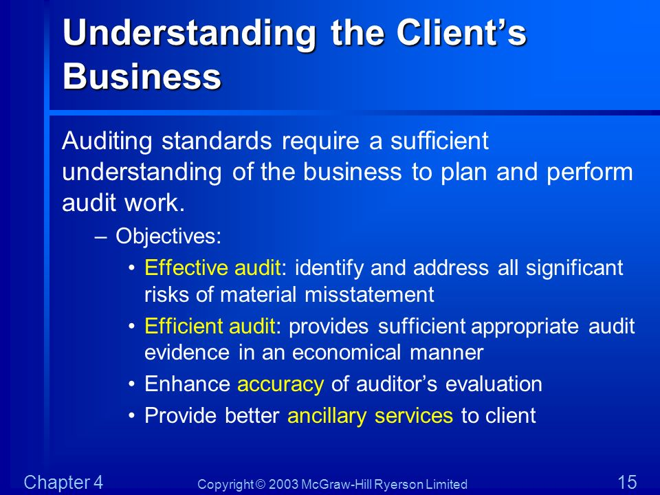 Understanding the Client's Business
